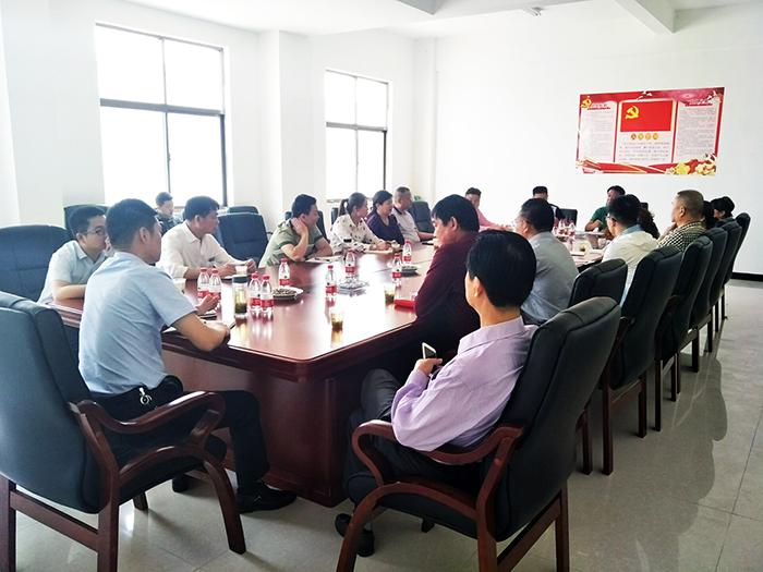 中共朋兴乡非公企业联合支部学习活动会议